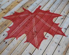 Inspired by the beautiful maple tree leaves so prevalent in the fall, this shawl will be a stunning addition to your autumn wardrobe. It can be made in any fngering weight yarn, but those with a high wool content will be best since it needs to be blocked aggressively. Suitable for intermediate and advanced crocheters.