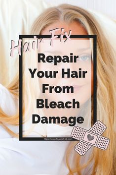 How To Repair Bleached Damaged Hair — MarcieFolk Damaged Hair Repair Diy, Bleach Damaged Hair, Bleached Hair Repair, Hair Mask For Damaged Hair, Best Hair Mask, Bleaching Your Hair, Bleach Hair, Hair Masks, Treatment For Bleached Hair