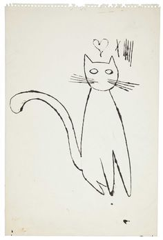 Andy Warhol, cat sketch  More Pins Like This From FOSTERGINGER @ Pinterest