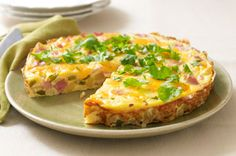Spanish Omelet recipe - Our Spanish Omelet gets mucho flavor from smoked ham, VELVEETA, garlic and chopped fresh cilantro.