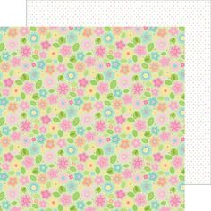 Item:5509  may flowers double-sided cardstock