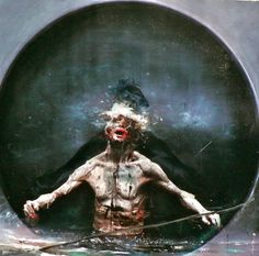 Art Nectar | The Delightfully Twisted Hybrid Art of Olivier de Sagazan | http://artnectar.com