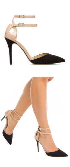Black and nude pumps