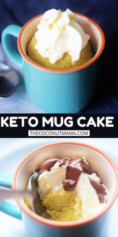 Coconut Flour Mug Cake, Baking With Coconut Flour, Coconut Flour Recipes, Almond Flour, No Egg Desserts, Low Carb Desserts, Microwave Desserts, Paleo Carrot Cake, Keto Mug Cake
