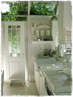 kitchen in the green house... hmmm -- interesting!