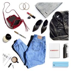 """Weekend"" by deepwinter ❤ liked on Polyvore featuring The Arrivals, Levi's, Rebecca Minkoff, Garance Doré, Bobbi Brown Cosmetics, Chanel, School of Life, Way Basics and Sharpie"