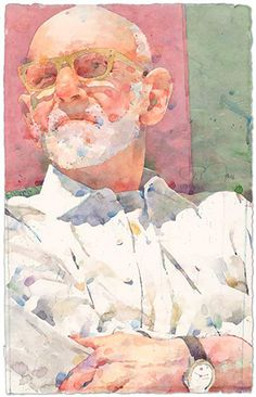 Ted Nuttall watercolor portrait