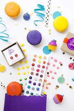 """Kate & Moose earings product styling and product photography by Shay Cochrane. www.shaycochrane.com.  Great styling concept  - earings styled as classic """"dots"""" candy"""