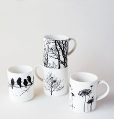 Naturescape Porcelain Mugs