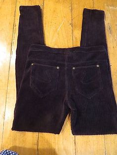HUE Velour Corduroy Black Stretch Leggings/Jegging w/Back Pockets, Size Small, ONLY $24.99 & FREE Shipping
