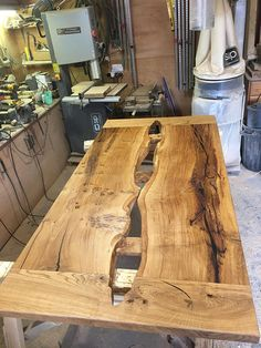 Brown Oak Dining Table