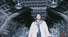 Castiel, angel, from the series, Supernatural - played by Misha Collins