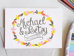 Wedding Logo, custom logo, save the date, custom monogram, personalized wedding, wedding stationery, DIY wedding, script font, digital file on Etsy, $50.00