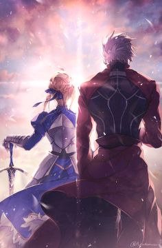 Discover new Anime and Manga series, manga anime lists and join the fun convo with our most active community now! Fate Stay Night Series, Fate Stay Night Anime, Fate Zero, Fate Archer, Fan Art Anime, Archer Emiya, Shirou Emiya, Saber X Shirou, Animé Fan Art