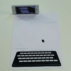 Paper keyboard for your i-phone!