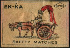 India-vintage-matchbox-label-EKKA-EK-KA-Safety-Matches-by-WIMCO