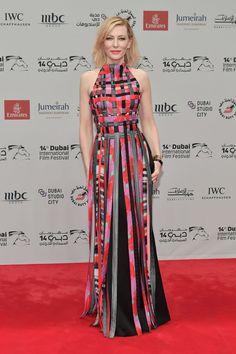 Cate Blanchett in custom Giorgio Armani and Rupert Sanderson shoes.