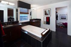 Tiled Bathroom by Dannburg Floor Coverings Next At Home, Home Improvement Projects, Corner Bathtub, Flooring, Bathroom, Tile, Washroom, Mosaics, Bath Room