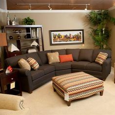 Casual 3 Piece Sectional With Wedge. Furniture MattressBrothers ...