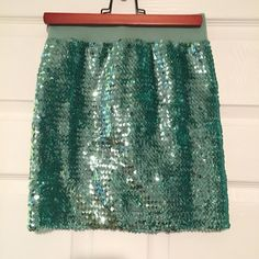 Sequined Mermaid Skirt Perfect for a sparkly mermaid look. Only worn once for a homecoming parade. A great look for a Disney bound outfit. Lily White Skirts Mini