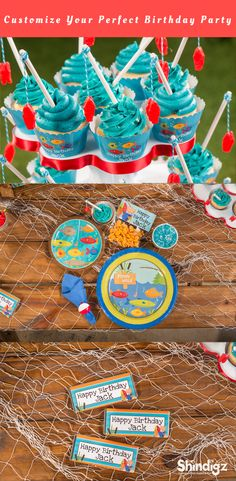 Gone Fishin' is the perfect theme for a fishing birthday party for your favorite little fisherman. Don't flounder around looking for great fishing party ideas. We've put together a large selection of fun fishing themes ideal for boys and girls who love to everything aquatic.