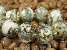 Into the Fire Lampwork Art Beads ~Avalanche~ SRA artist handmade glass beads USA