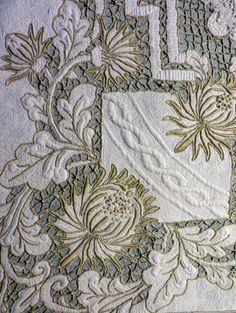 Everlasting linen quilt by Cindy Needham