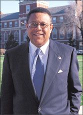 Howard University President (1995-2008) and Howard University graduate (BS, 1965; LW LLB, 1968) H. Patrick Swygert received the LL.D. during the 2008 Commencement.