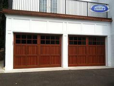 Infinity Classic Model I108S VG WG Dark Cherry PC Finish Garage Door