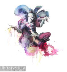 FFVI - Kefka Palazzo - Watercolor Portrait- FF6 - Dissidia, The Joker, Clown, Jester Watercolor Portraits, Watercolor Paper, Watercolor Fashion, Yoshitaka Amano, Final Fantasy Vi, Joker Clown, Palazzo, Insta Art, Drawings