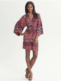 Issa Collection Coral Printed Kimono Dress