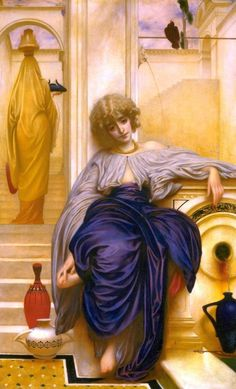 Cave to Canvas, Lord Frederic Leighton, Lieder ohne Worte, 1861 . Famous Art Paintings, Oil Paintings, John Everett Millais, Tate Gallery, Lord, English Artists, Pre Raphaelite, Mid Century Art, 19th Century