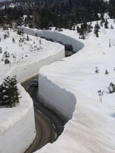 Apparently this is from Anchorage, Alaska. this is crazyy, how do the plows even do that?