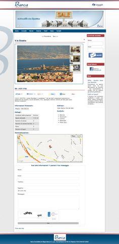 Sito web di vetrina immobiliare per Barca Immobiliare Affiliato Grimaldi Messina - Pagina Appartamento - Realizzato con Joomla 2.5, K2 e JEA - Anno 2013