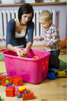Kids' room organization: Use a computer printer to make simple graphic labels for young children. Pictures of socks, shirts, dolls or blocks help remind the child where these items belong. Enhance reading skills for older children by using large-type word labels.