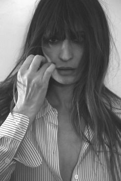 Caroline de Maigret is the star and stylist of Equipments Fall Lookbook.