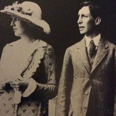 """beatbopped: """" Leonard and Virginia Woolf on their wedding day…both were blacklisted by Himmler and expected to be ceased and executed if the Nazis invaded Great Britain. """""""
