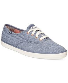 6fef73bba34 Keds Women s Quilted Jersey Champion Sneakers-Blue Heather