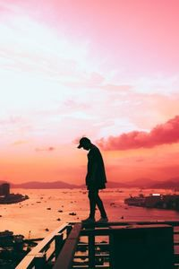 1440x2960 Person Standing Pink Silhouette Tumblr Imagenes Tumblr