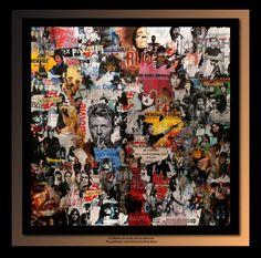 TEHOS (©2012 artmajeur.com/tehos) Tableau de Tehos acrylique et marouflage sur toile 100*100 cm Art Du Collage, Mixed Media Collage, Pop Art, Collages, Ouvrages D'art, Art Abstrait, Art Plastique, Art Pages, Magazine Art