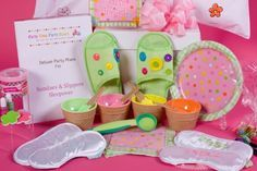girls spa party holiday sleepover ideas - Google Search
