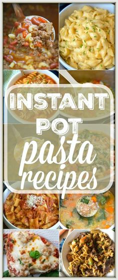 Here are 17 easy Instant Pot pasta recipes to get you started with your pressure cooker! Simple soups and main dishes with pasta in them that we love. #instantpot #pasta #recipes via @thetypicalmom paleo dinner instant pot