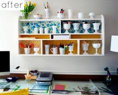 More paper-backed shelving/wall art ideas