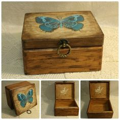 Items similar to Butterfly Box Jewelry wood box Decoupage box butterfly Treasure box Handmade jewelry box Box gift Shabby chic Keepsake Rustic Jewellery box on Etsy Diy Wood Box, Diy Box, Wood Boxes, Wooden Diy, Handmade Jewelry Box, Rustic Jewelry, Wooden Jewelry, Unique Jewelry, Handmade Items