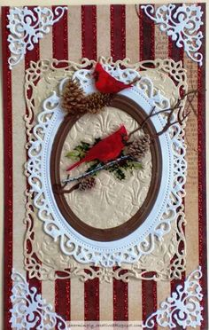 Christmas Cardinals by Charminglycreative - Cards and Paper Crafts at Splitcoaststampers