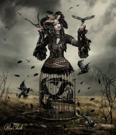 Thank you for viewing. Credits: • Evil - Stock • new version ala negra by DenysRoqueDesign • Black Feathers Pack .PSD file • Hat Collection 12 PNG Stock • Feather brus...