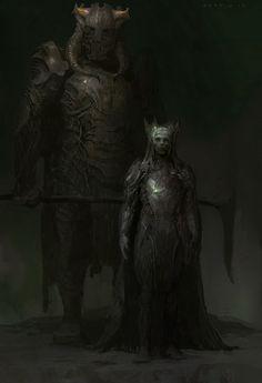 Dark Elves, Justin Sweet on ArtStation at https://www.artstation.com/artwork/m3oLy