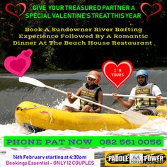 Valentine's Day Sundowner River Rafting