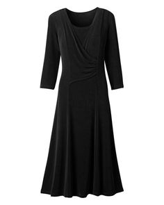 Black travel dress (which should mean that it looks fresh after a long day/night).