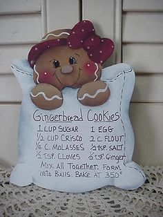HP~~Gingerbread Cookie Recipe ~~ Fridge Magnet